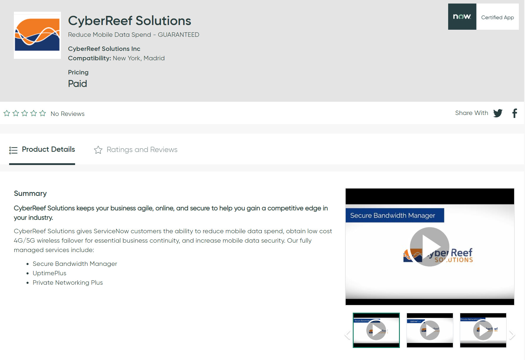 CyberReef App Now Live in the ServiceNow® Store